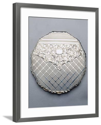 Multi-Sided Silver Compact Powder Case, 1940, Germany--Framed Art Print