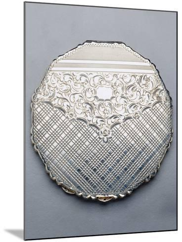 Multi-Sided Silver Compact Powder Case, 1940, Germany--Mounted Giclee Print