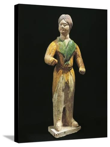 Barbarian, Painted Terracotta Statue, China, Tang Dynasty, 7th-10th Century--Stretched Canvas Print