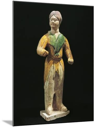Barbarian, Painted Terracotta Statue, China, Tang Dynasty, 7th-10th Century--Mounted Giclee Print