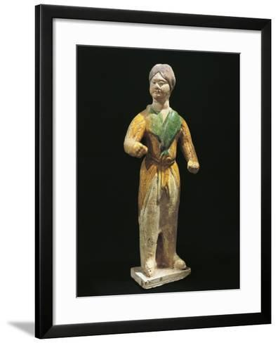 Barbarian, Painted Terracotta Statue, China, Tang Dynasty, 7th-10th Century--Framed Art Print