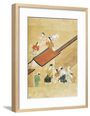 The Curious Arriving to Watch--Framed Art Print