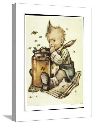 Künstler B. Hummel, Baby Isst Honig, Bienen Fliegen Herum--Stretched Canvas Print