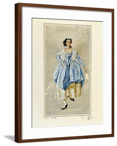 France, Paris, Costume Sketch for Susanna for Performance the Marriage of Figaro--Framed Art Print