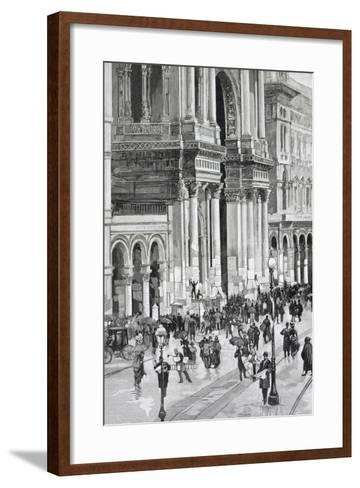 Local Elections, February 10, 1895 in Milan--Framed Art Print