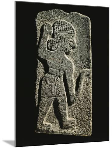 Black Basalt Stela Depicting an Aramaic Warrior--Mounted Giclee Print