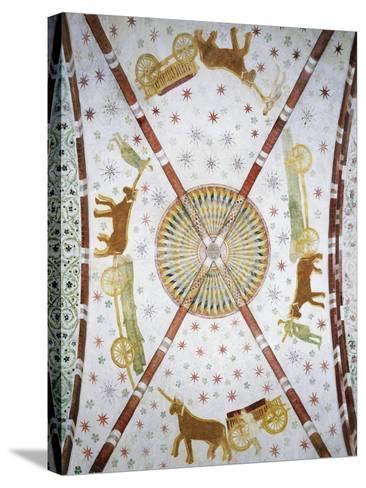 Carts in Circle, Basilica of San Bassiano, Lodi Vecchio, Lombardy, Italy--Stretched Canvas Print