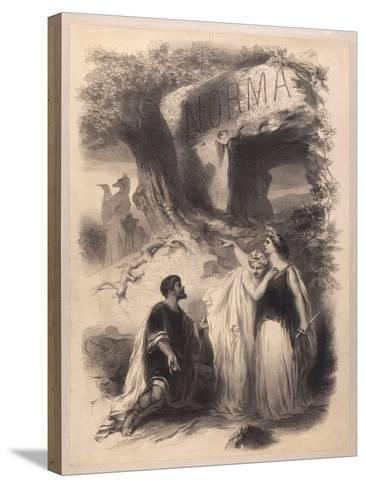 France, Paris, Poster for Performance Norma at Chateau D'Eau Theatre--Stretched Canvas Print