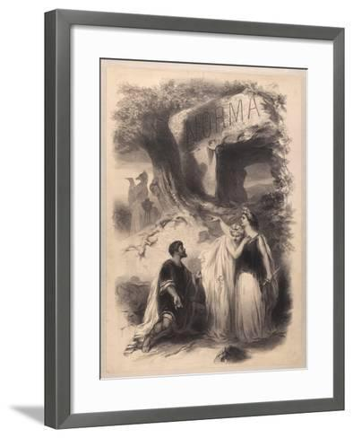 France, Paris, Poster for Performance Norma at Chateau D'Eau Theatre--Framed Art Print