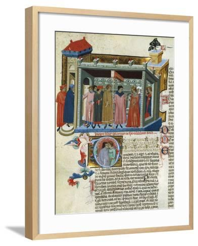 Marriage Contract, Miniature from the Decretals--Framed Art Print