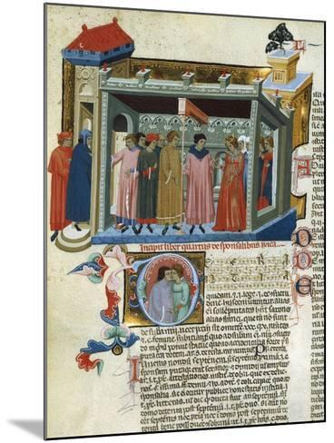 Marriage Contract, Miniature from the Decretals--Mounted Giclee Print