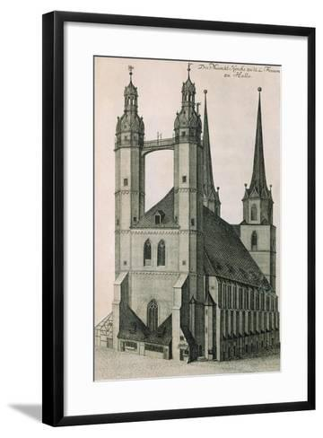 Germany, Halle, Marktkirche--Framed Art Print