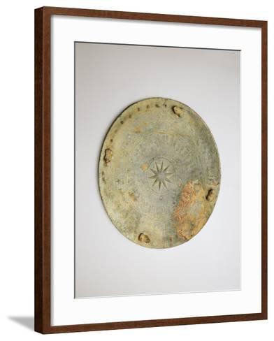 Belgium, Brussels, Bronze Disk--Framed Art Print
