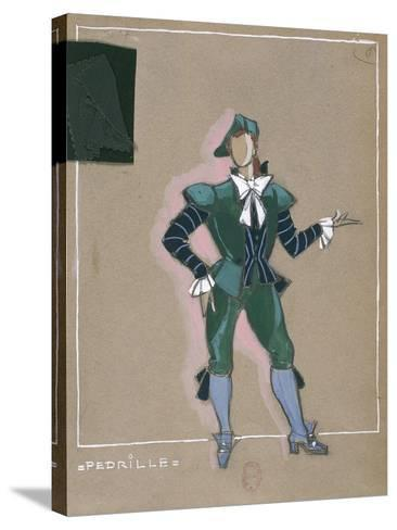 France, Paris, Costume Sketch for Pedrillo for Performance the Abduction from the Seraglio--Stretched Canvas Print