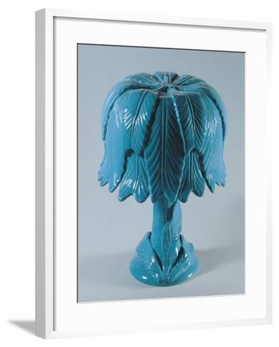 Table Lamp with Foliate Pattern--Framed Art Print