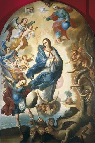 Our Lady of Apocalypse, Miguel Vallejo--Stretched Canvas Print