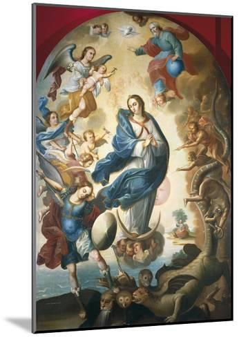 Our Lady of Apocalypse, Miguel Vallejo--Mounted Giclee Print