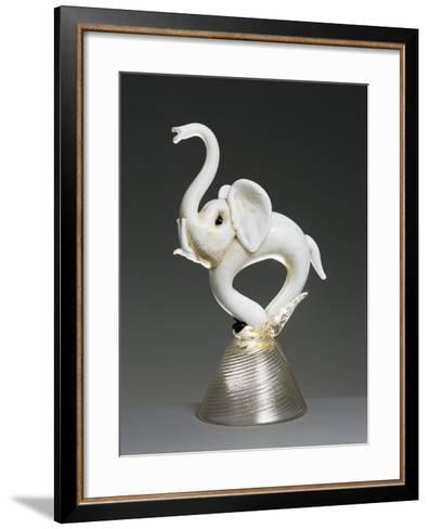 Elephant in Milk Glass Sprayed with Gold, 1934-1935--Framed Art Print