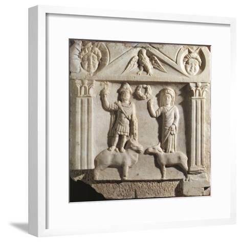 Austria, Aedicula with Jupiter and Juno, Limestone--Framed Art Print
