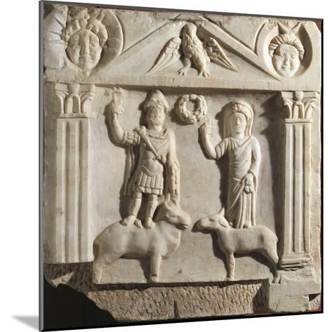 Austria, Aedicula with Jupiter and Juno, Limestone--Mounted Giclee Print