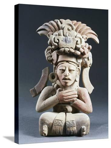Anthropomorphic Funerary Urn, Terracotta, from Mexico--Stretched Canvas Print