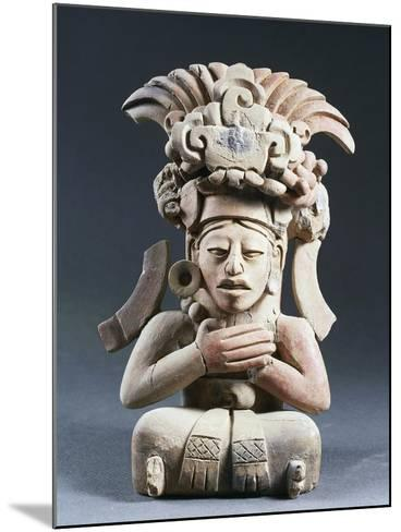 Anthropomorphic Funerary Urn, Terracotta, from Mexico--Mounted Giclee Print