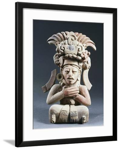 Anthropomorphic Funerary Urn, Terracotta, from Mexico--Framed Art Print