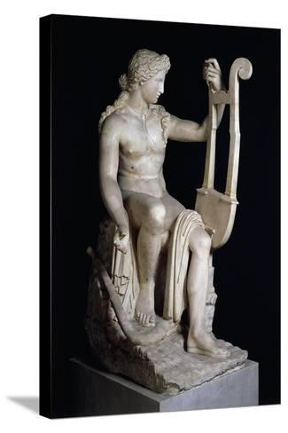 Apollo Playing Lyre--Stretched Canvas Print