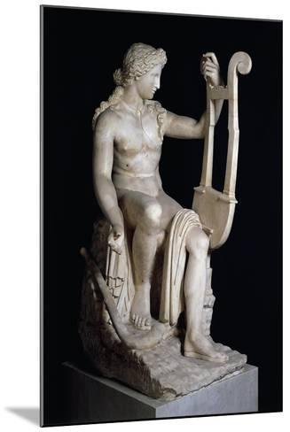 Apollo Playing Lyre--Mounted Giclee Print