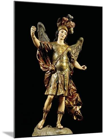 St. Michael, Painted Wooden Statue, Portuguese Art--Mounted Giclee Print