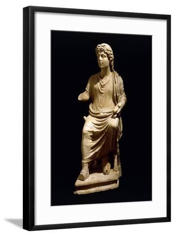 Statue of Christ the Teacher, Early Christian Period--Framed Art Print