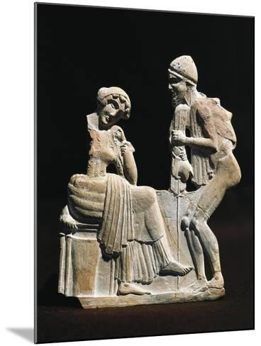 Polychrome Terracotta Relief Depicting Ulysses and Penelope, 450 B.C.--Mounted Giclee Print