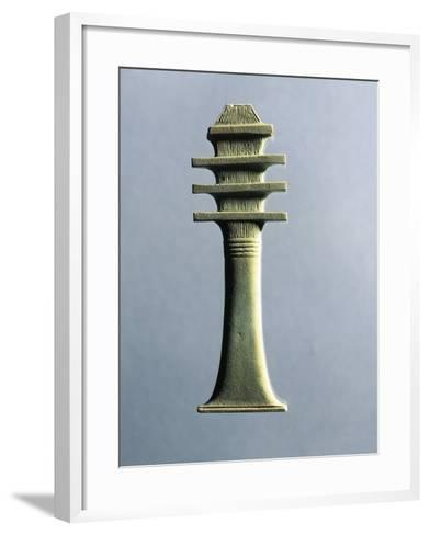 Faience Amulet Representing Djed Pillar, Symbol of Stability and Endurance, Linked to God Osiris--Framed Art Print