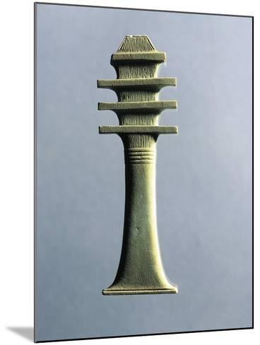 Faience Amulet Representing Djed Pillar, Symbol of Stability and Endurance, Linked to God Osiris--Mounted Giclee Print
