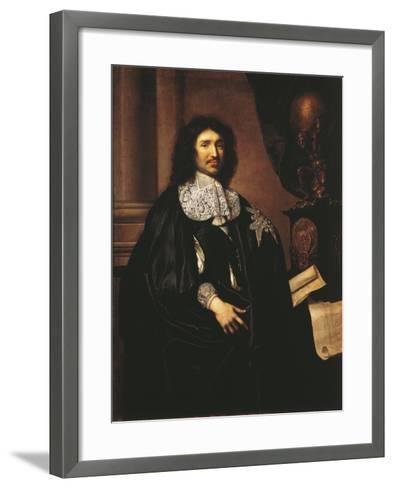 France, Versailles, Portrait of Jean-Baptiste Colbert--Framed Art Print