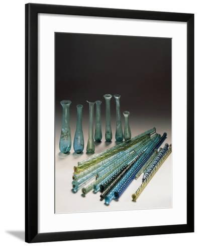 Roman Civilization, Glass, Containers and Polychrome Tubes in Glass--Framed Art Print