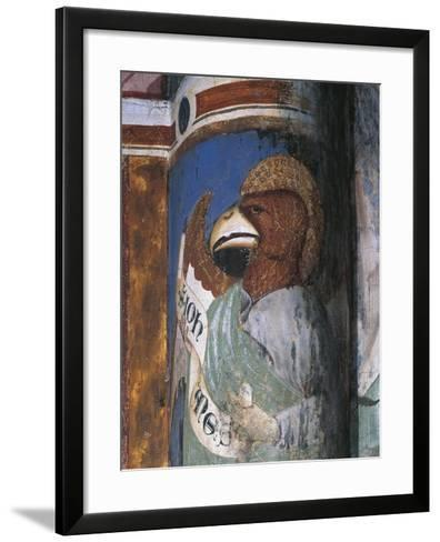 Italy, Lombardy, Como, Church of Sant'Abbondio, Apse, Allegorical Portrait with Saint John as Eagle--Framed Art Print