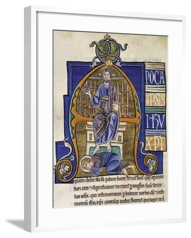 Christ: the Book of Revelation, Miniature from the Bible of Souvigny--Framed Art Print