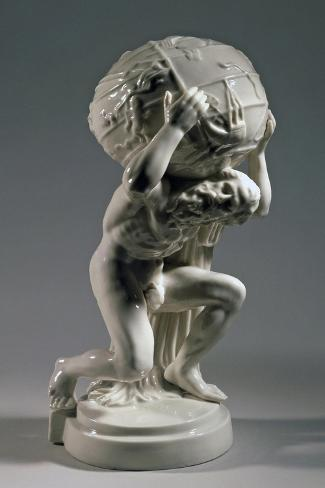 Reproduction of Farnese Atlas, Ca 1896, Ceramic--Stretched Canvas Print