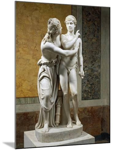 Marble Sculpture Group Portraying Cupid and Psyche--Mounted Giclee Print