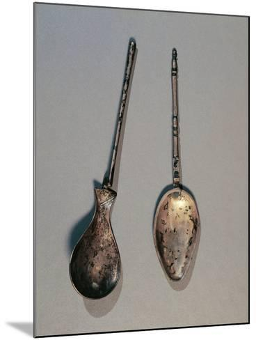 Silver Spoons, from Angerville, Gaul, France--Mounted Giclee Print