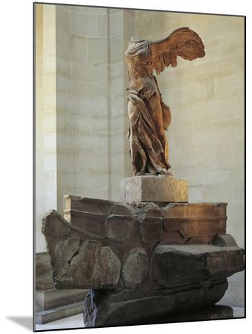 Parian Marble Statue of Winged Victory of Samothrace, also Called Nike of Samothrace--Mounted Giclee Print