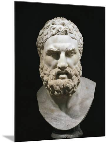 Marble Head of Heracles, Copy of Greek Original by Lysippus--Mounted Giclee Print