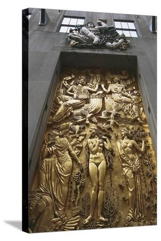 Gilded Bas-Relief, 5th Avenue, New York, United States--Stretched Canvas Print