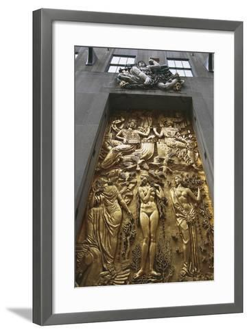Gilded Bas-Relief, 5th Avenue, New York, United States--Framed Art Print