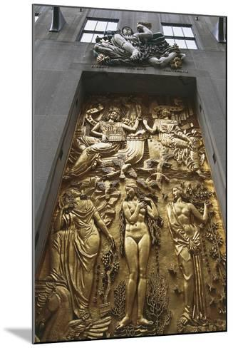Gilded Bas-Relief, 5th Avenue, New York, United States--Mounted Giclee Print