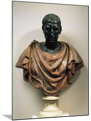 Bronze Head with Marble Bust of Julius Caesar--Mounted Giclee Print
