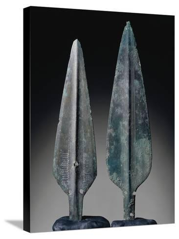 Spearheads, Bronze, Sardinia, Italy, Nuragic Civilization--Stretched Canvas Print