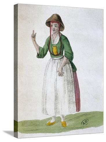 Quaker Woman, 1767--Stretched Canvas Print