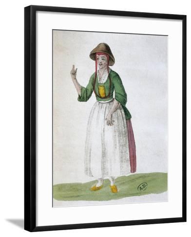 Quaker Woman, 1767--Framed Art Print